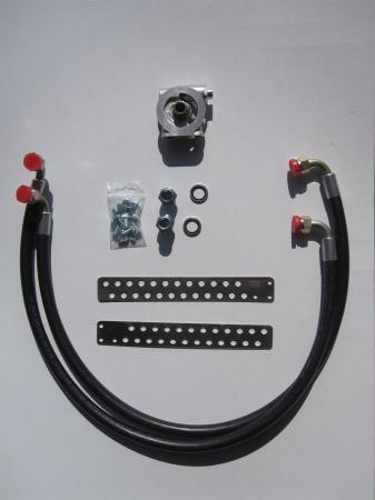 Mocal Ölkühlereinbausatz M20 mit Thermostat  Schläuche Aeroquip std.