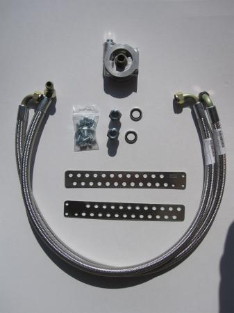 Mocal Ölkühlereinbausatz M20 mit Thermostat  Schläuche stahlummantelt