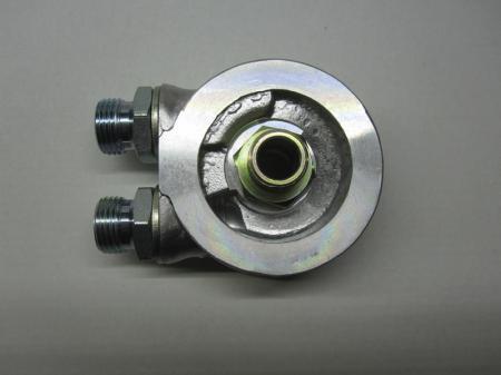 """Mocal Ölkühler-Adapterplatte 13/16 UNF ohne Thermostat - Set mit 1/2"""" BSP Anschlüssen"""