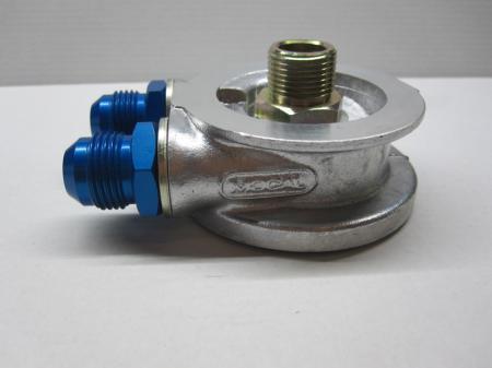 Mocal Ölkühler-Adapterplatte M18 Set ohne Thermostat - Set mit Dash10 Aluminium Anschlüssen