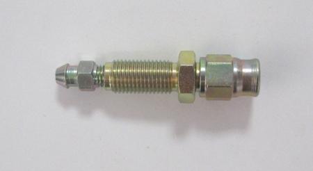 Anschluß Einschraub 3/8x24 konvex verz. mit integriertem Entlüfternippel