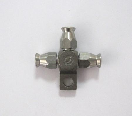 Dreifachverteiler 3x D3 Schlauchanschluss  Edelstahl mit Befestigungsloch