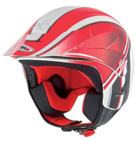 Jet Helm Shiro SH65 K2  Helmgröße: 59-60cm (Gr.L), Farbe: rot