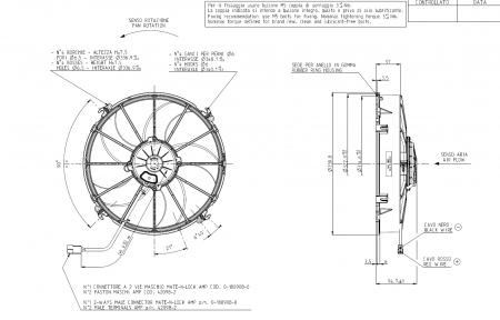 Spal Kühlerventilator 2480m³ blasend  D331-D305 T=95 / VA01-AP70/LL-43S
