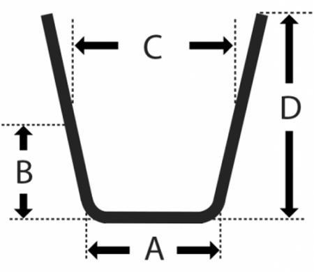 Reifenprofilschneidmesser Rillfit W6  Satz = 10 Stück