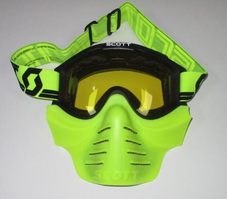 Scott 83xi Safari Vollcross neon Brille ohne Roll Off´s incl. Vollmaske