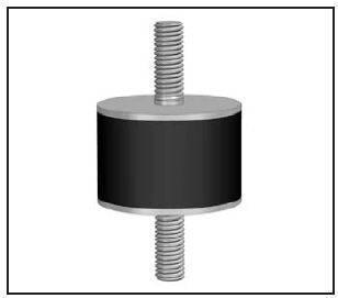 Schwingmetallpuffer  20x10mm M6