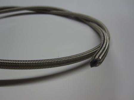 PTFE Schlauch Edelstahlummantelt  Dash 03 kunststoffummantelt klar