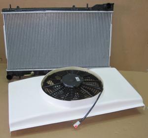 Wasserkühler Paket 1 Kühler, GFK Lufthutze, Spal 2070 Lüfter