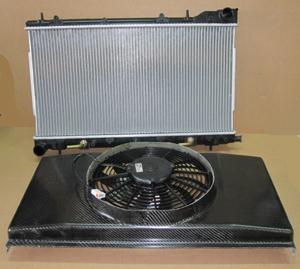 Wasserkühler Paket 2 Kühler, CFK Lufthutze, Spal 2070 Lüfter