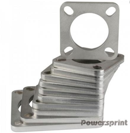 Powersprint Quadrat-Flansch 101,6 mm Ø Rohrausschnitt