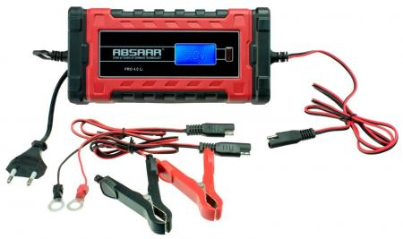 Absaar Batterieladegerät Pro 4.0 Lithium, 6/12 Volt, 4Ampere Lithium Battery Smart Charger