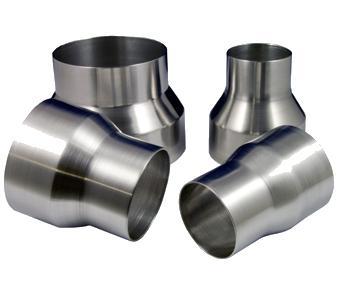 Zweistufiges Reduzierrohr aus Aluminium  Reduzierung: 50mm - 70mm