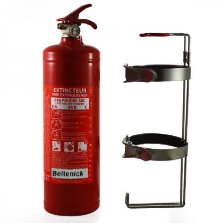 Beltenick® Stahl Handlöscher  2 kg Pulver mit Schnellauslösesystem