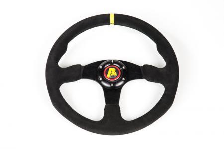 Beltenick® Lenkrad Rallye 350mm  ungeschüsselt - flach Wildleder