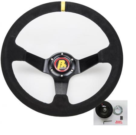 Beltenick® Lenkrad Rallye 350mm geschüsselt mit E36 Airbag Nabe (M3) A2011