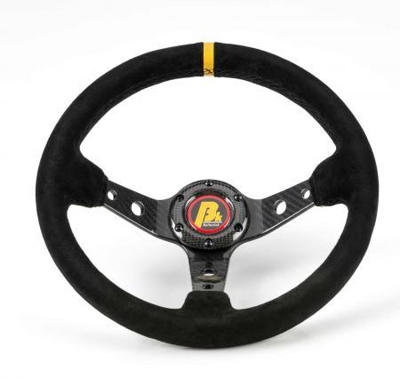 Beltenick® Lenkrad Carbon Rallye 350mm   95mm geschüsselt Wildleder