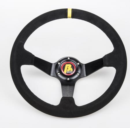 Beltenick® Lenkrad Rallye 350mm  95mm geschüsselt Wildleder