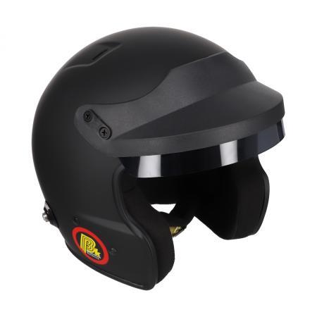 Beltenick® OF Racing schwarz mit Hans Clips  Helmgrösse: 56-57cm (Gr.M)