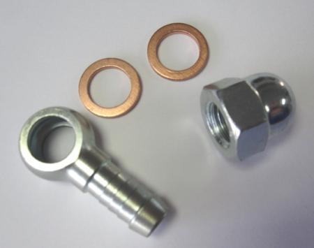 Ringstück-Satz Auslass für Bosch / Beltenick / OBP Pumpe  - M12x1,5 auf 8mm Schlauch