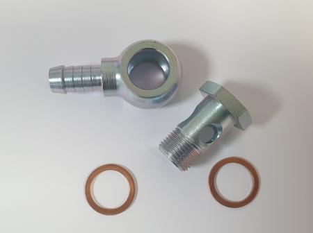 Ringstück-Satz Ansaug für Bosch / Beltenick / OBP Pumpe - M18x1,5 auf 13mm Schlauch