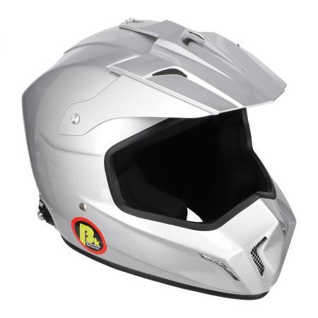 Beltenick® FIA Cross Helm silber  mit Hans Clips