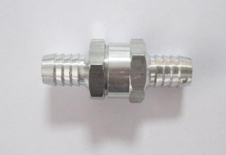 Rückschlagventil 12mm für Kraftstoffleitungen, Aluminium