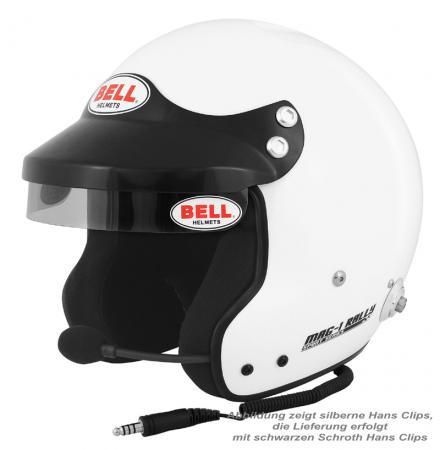 Bell Helm MAG 1 Rally FIA8859-2015  Helmgröße: 56-57cm (Gr.S) mit Sprechanlage incl. Hans Clips