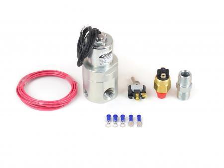 Shut Off Valve, Oil Accumulator, 12V Pressure Control, 35-40 psi, 1/2 in NPT Fem