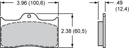 EBC Bremsbelagsatz Wilwood (7112)  - DP2038 - Greenstuff