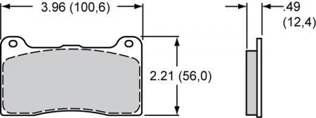EBC Bremsbelagsatz Wilwood (7812)  - DP3039/2C - Redstuff