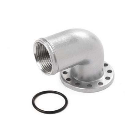 Anschluss 90° für Elektrische WP Aluminium 38mm  für EWP 80 + 130 Davies Craig