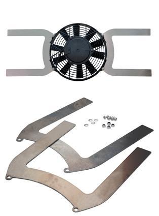 Aluminium Lüfter Halter universal  passend für Lüfter mit Flügeldurchmesser: 255 mm