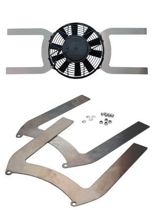 Aluminium Lüfter Halter universal  passend für Lüfter mit Flügeldurchmesser: 350 mm