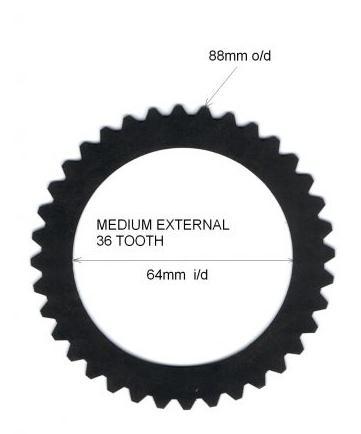 Gripper® externe Sperrlamelle 1,5mm  mittlere Größe