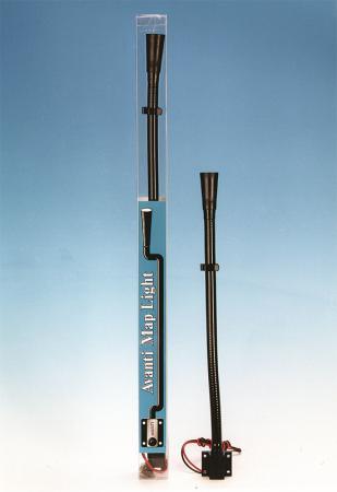 Avanti Rallye Leselampe 305mm (12 inch) mit Schalter  vorderer Lichtaustritt (kegelförmig)