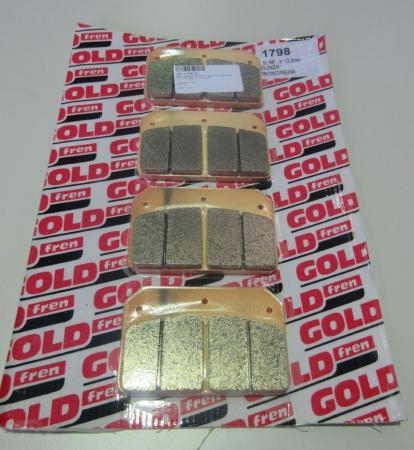 Bremsbeläge GoldFren Wilwood Dynalit) (7112)  Typ 1798 Material  S3-ZNZ/K