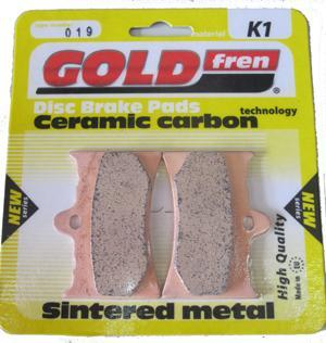 Bremsbeläge Gold fren (Grimeca 4-kolben)  Typ (4-Kolben) 019 Material K1