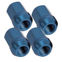 Aluminium Radmutter M12x1,25 offen  (4 Stück) blau eloxiert
