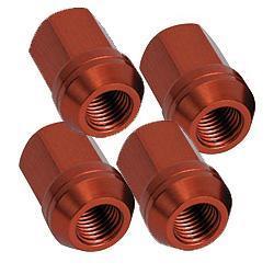Aluminium Radmutter M12x1,25 offen  (4 Stück) rot eloxiert
