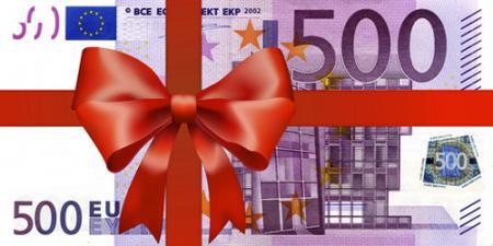 Geschenkgutschein Gutscheinwert: 500.- €