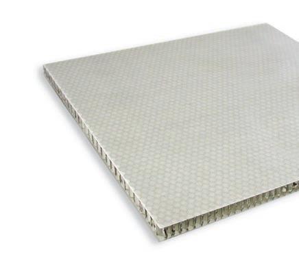 Verbundmaterial (Honeycomb) weiß 15mm  Wabenplatte 1,18x0,58m Platte (1,85kg/m²)