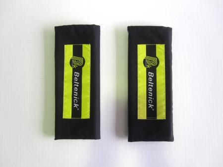 Beltenick® Gurtpolster 75mm schwarz  Set aus 2 Stück