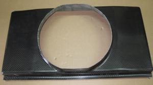 Kühlerhaube Aramid CA 700x390mm für Spal Lüfter 336mm