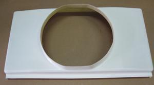Kühlerhaube GFK 700x390mm für Spal Lüfter 336mm
