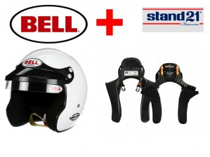 HANS + Jethelm Rally   Bell® Mag1- Kombi Angebot mit HANS System