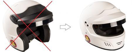 Aufpreis für Touring Helm (für Kompellangebote)  statt Open Face