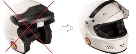 Aufpreis für Full Face Helm (für Kompellangebote)  statt Open Face