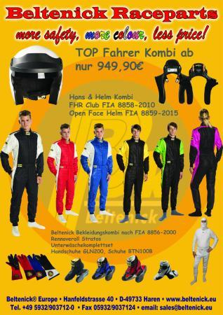 Racewear Jubiläumsangebot  Beltenick® Racewear komplett (mit HANS & Helm)