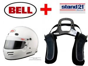 Integralhelm Bell® Sport 5 - Kombi Angebot mit Stand 21 HANS Sport3 System